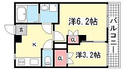 品川マンション[5階]の間取り