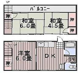 新丸栄コーポ[2階]の間取り