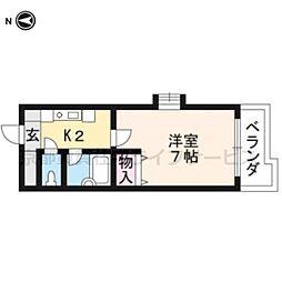 エクシード円町[202号室]の間取り