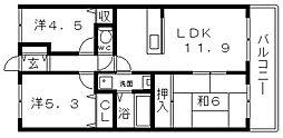 ライオンズマンション阿倍野阪南町第二[7階]の間取り