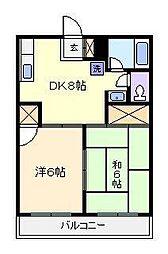 メゾンサガノ[1階]の間取り