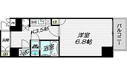 レジュールアッシュ・プレミアムツインII[8階]の間取り