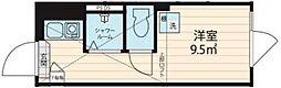 JR総武線 大久保駅 徒歩8分の賃貸アパート 2階ワンルームの間取り