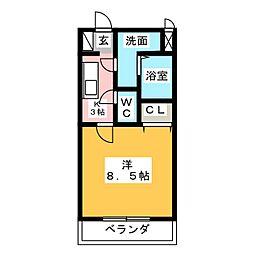 マンションアルティア[2階]の間取り