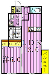 BLOOM PARKS[1階]の間取り