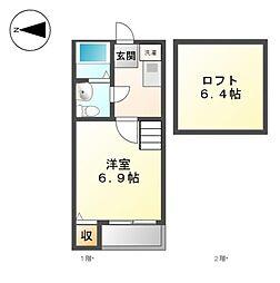 Loft6志賀本通[2階]の間取り
