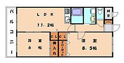 クレセール新宮[2階]の間取り
