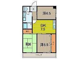 小池第3ビル[6階]の間取り