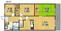 メゾン羽倉崎[3階]の間取り