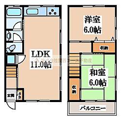 [テラスハウス] 大阪府堺市北区百舌鳥西之町3丁 の賃貸【/】の間取り