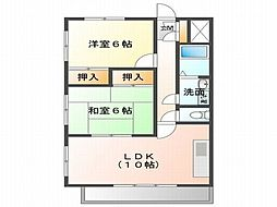 JR東海道・山陽本線 明石駅 バス15分 玉津インター前下車 徒歩3分の賃貸マンション 3階2LDKの間取り
