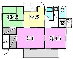 [一戸建] 愛媛県松山市竹原4丁目 の賃貸【/】の間取り