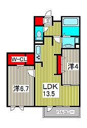 GrandirA[2階]の間取り