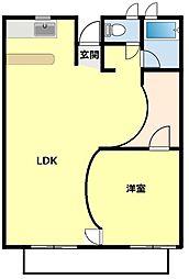 14の砦[102号室]の間取り