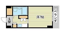 飾磨中村コーポ[A-2号室]の間取り