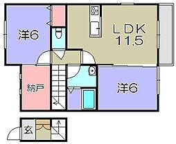 ファイン・レジデンスA棟[2階]の間取り