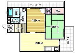 エコーハイツI[1階]の間取り