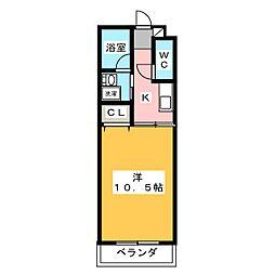 HIBINO RISE[7階]の間取り