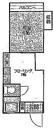 東京都豊島区池袋1丁目の賃貸アパートの間取り