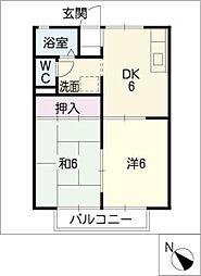 アンスリュームA[1階]の間取り