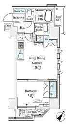 JR総武本線 馬喰町駅 徒歩4分の賃貸マンション 6階1LDKの間取り