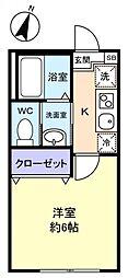 勝田台PD I[2階]の間取り