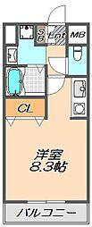 兵庫県神戸市西区前開南町1丁目の賃貸マンションの間取り