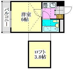 ジュネパレス津田沼第20[2階]の間取り