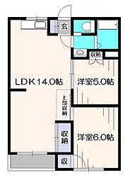 美鈴マンション[4階]の間取り