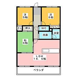 グローリアス春日井梅ヶ坪 302号[3階]の間取り
