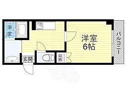 Osaka Metro長堀鶴見緑地線 今福鶴見駅 徒歩5分の賃貸マンション 2階1Kの間取り