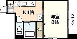 広島県広島市西区横川新町の賃貸マンションの間取り