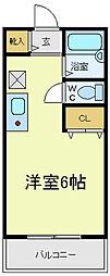 サントピア阿倍野[3階]の間取り