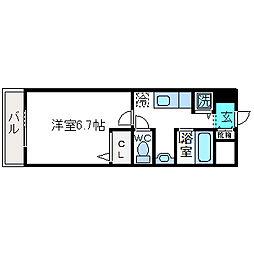 ジュネス京口[305号室]の間取り