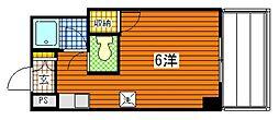 広島県広島市南区東雲本町3丁目の賃貸マンションの間取り