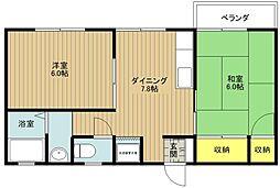 東京都江戸川区船堀4丁目の賃貸アパートの間取り