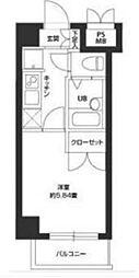 東京都大田区久が原5丁目の賃貸マンションの間取り