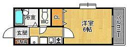 サンライズ西宮[2階]の間取り