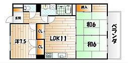サンライフ砂津[5階]の間取り
