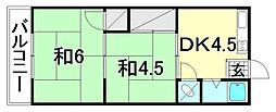 中川荘 南棟[203 号室号室]の間取り