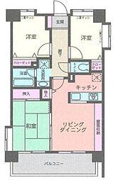 ライオンズマンション横浜駅西第3[6階]の間取り