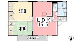 兵庫県たつの市揖保川町山津屋の賃貸アパートの間取り