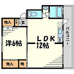 岩橋マンション[4階]の間取り