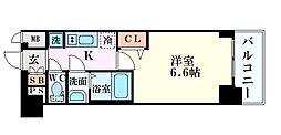 Osaka Metro千日前線 玉川駅 徒歩3分の賃貸マンション 8階1Kの間取り
