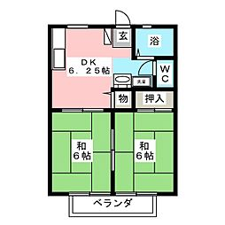 もちの木ハイツPART6[2階]の間取り