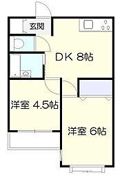 ロワール栗木台[1階]の間取り