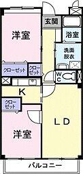 アビタシオン早稲田[0402号室]の間取り