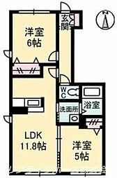 シャーメゾン乙瀬[1階]の間取り