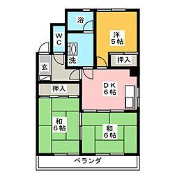 レジデンス カトウ[2階]の間取り