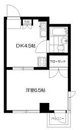 東京都新宿区上落合3丁目の賃貸マンションの間取り